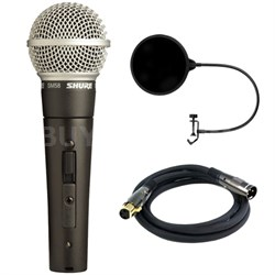 Cardioid Dynamic Microphone with On/Off Switch w/ Filter Bundle