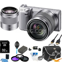 NEX-5RK/S Compact Digital Camera with 18-55 + SEL 50mm f1.8 Lens