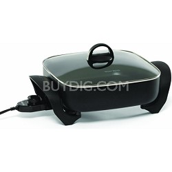 72212 Electric Extra-Deep Square 12-Inch Nonstick Skillet -  USED
