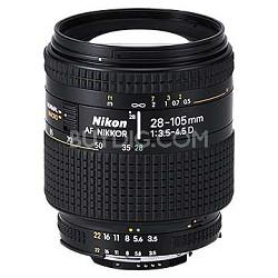 28-105mm F/3.5-4.5D AF Zoom-Nikkor Lens, With Nikon 5-Year USA Warranty