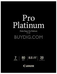 """Photo Paper Pro Platinum 8.5"""" X 11"""" - 20 Sheets"""