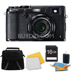X100S 16MP Full HD 1080p Video Digital Camera 16GB Black Kit