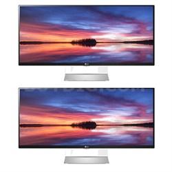"34UM95-C IPS 21:9 34"" 3440x1440 UltraWide QHD Dual Display LED Monitor Bundle"