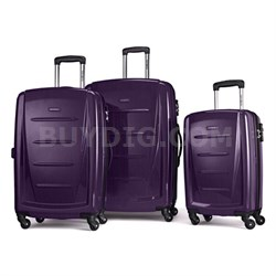 Winfield 2 Fashion Hardside 3 Piece Spinner Set - Purple (56847-1717) - OPEN BOX