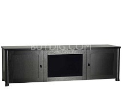 "CFV69 - Lowboy 3-Shelf Cabinet for AV Equipment & TVs up to 75"" (Espresso/Black)"