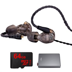 UM Pro 30 High Performance In-ear Headphone (Smoke)-78489 w/ FiiO A5 Amp Bundle