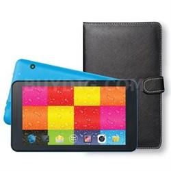 """7"""" Tablet w Keybrd Case Blue"""