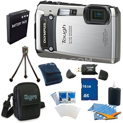 16GB Kit Tough TG-820 iHS 12MP Water/Shock/Freezeproof Digital Camera - Silver