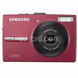 """L210 10MP 2.5"""" LCD Digital Camera (Red)"""