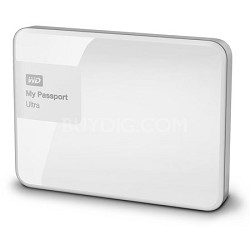 My Passport Ultra 2TB Portable External Hard Drive USB 3.0 White (WDBBKD0020BWT)