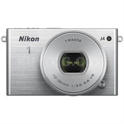 1 J4 Mirrorless Digital Camera with 10-30mm Lens - Silver (Refurbished)