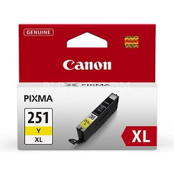 CLI-251 Yellow XL Ink Tank for PIXMA iP7220, MG5420, MG6320 Printers