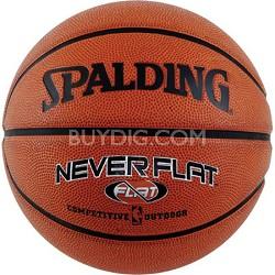 "Never Flat Outdoor Intermediate Size Basketball 28.5"""