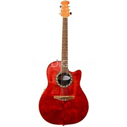 AE128-2WFB Super Shallow Waterfall Bubinga Acoustic-Electric Guitar Trans Red
