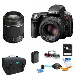 Alpha SLT-A35 16.2 MP Digital SLR w/ 18-55mm and 55-200 Ultimate Bundle