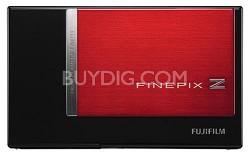 FINEPIX Z200fd 10 MP Digital Camera (Red and Black)