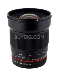 24mm F/1.4 Aspherical Wide Angle Lens for Sony