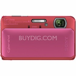 Cyber-shot DSC-TX20 16.2 MP Waterproof Shockproof 3D Sweep Camera (Pink)