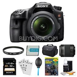 SLTA65VL DSLR 24.3MP 18-55mm Zoom SLR Black Camera 55-200mm 32GB Bundle