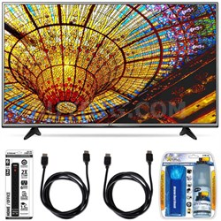49UH6030 - 49-Inch 4K UHD Smart LED TV w/ webOS 3.0 Essential Accessory Bundle