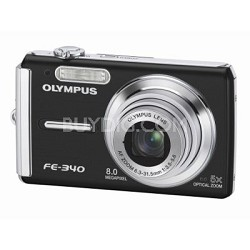 FE-340 8MP Digital Camera (Black)
