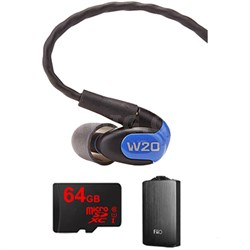 W20 Dual Driver Noise Isolating Earphones In-Ear Monitors - 78502 w/ FiiO A3 Amp