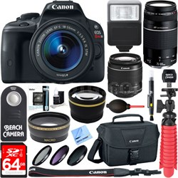 EOS Rebel SL1 DSLR Camera + 18-55mm 75-300mm Dual Lens Bundle & Accessory Kit