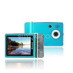 "2.4"" Color MP3 Video Player 4GB W/Built-in 5MP Digital Camera - Blue"