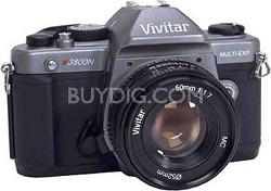 V3800N w/ 50mm Lens 35mm SLR Manual Focus Camera Kit