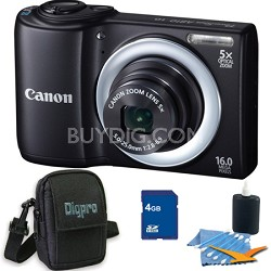 PowerShot A810 16MP Black Digital Camera 4GB Bundle