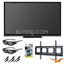 "Aquos LC70LE735U 70"" Aquomotion 240 Wifi 3D LED TV Bundle"