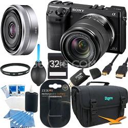 NEX7K/B - NEX-7 24.3 MP Black Camera w/ 18-55mm & 16mm lens 32GB Bundle