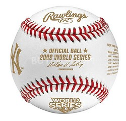 New York Yankees 2009 World Series Champions Commemorative Baseball in Cube