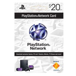 PSN 20 dollar live card