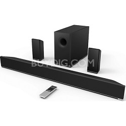 38-Inch 5.1 Bluetooth Sound Bar with Wireless Subwoofer and Two Speakers (S3851)
