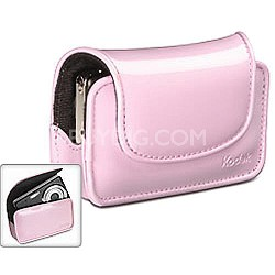 Chic Patent Leatherette Camera Case - Pink