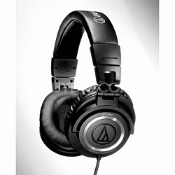 Audio-Technica ATH-M50 Professional Studio Monitor Headphones with Coiled Cable