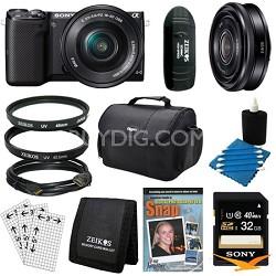Compact Interchangeable Lens Digital Camera w/ 16-50mm Power Zoom Lens Bundle