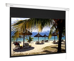 DE-GWII9106E - 106 inch Professional Motorized Gray Screen