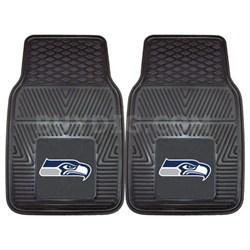 NFL Seattle Seahawks Vinyl Heavy Duty Car Mat - Set of Two