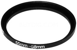 55/58mm Step-Up Ring
