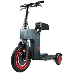 3-Wheeled Sit/Stand Foldable Electric M Scooter - Grey (MPAM003)