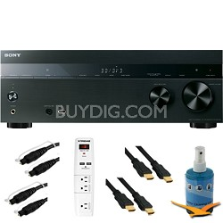 7.2ch 1015 Watt A/V Receiver with Bluetooth Plus Hook-Up Bundle - STR-DH750