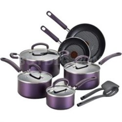 Color Luxe Titanium Nonstick Thermo-Spot Dishwasher Safe Cookware Set 12pc
