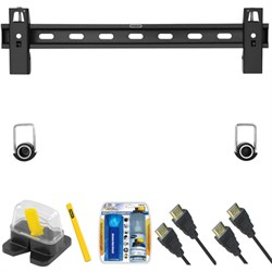 "Large Fixed TV Mount & Set Up Kit for  40""- 65"" TVs up to 100LB - TLS-200S"