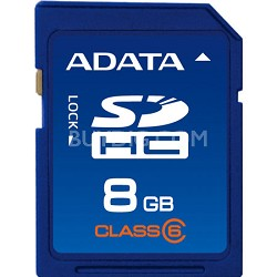 8 GB Secure Digital High-Capacity (SDHC) Class 6 Turbo Series ASDH8GCL6-R