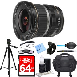 EF-S 10-22mm F/3.5-4.5 USM Lens Deluxe Accessory Bundle