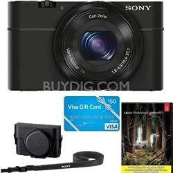 Cyber-Shot DSC-RX100 Digital Camera, $50 Visa GC, Adobe LR5 and Sony Custom Case