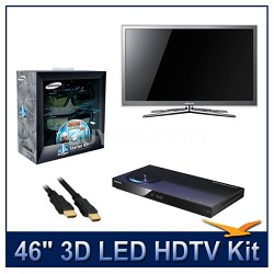 "UN46C8000 - 46"" 3D 1080p 240Hz LED HDTV Kit w/ 3D Glasses & Blu-Ray Player"