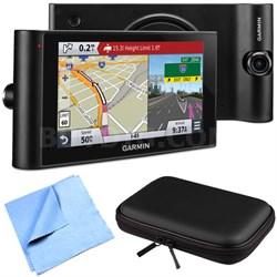 "dezlCam LMTHD 6"" GPS Truck Navigator w/ Dash Cam Hardshell Case Bundle"